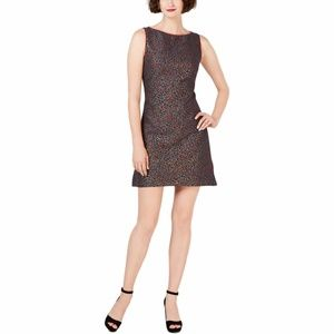 BETSEY JOHNSON Metallic Animal Print Shift Dress